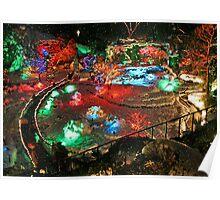 BUTCHART Gardens : Winter Wonderland Poster