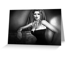 Lust In Black And White Goth Pinup Greeting Card