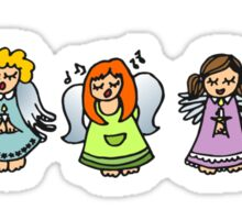five singing angels Sticker