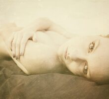 Beautiful vintage young attractive caucasian woman by ilolab