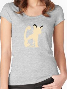 Meowth Persian Evolution Women's Fitted Scoop T-Shirt