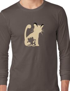 Meowth Persian Evolution Long Sleeve T-Shirt