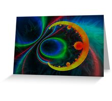 colorful magnetic field Greeting Card
