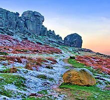 Cow And Calf Rocks Ilkley - HDR by Colin J Williams Photography