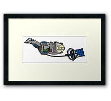 TARDIS in tow Framed Print