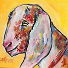 Goat of many colours by christine purtle