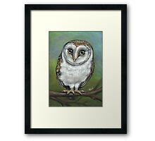 An Owl Friend Framed Print