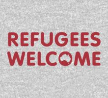 Refugees Welcome Australia (Red) One Piece - Long Sleeve