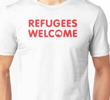 Refugees Welcome Australia (Red) Unisex T-Shirt