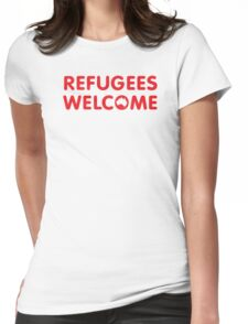 Refugees Welcome Australia (Red) Womens Fitted T-Shirt