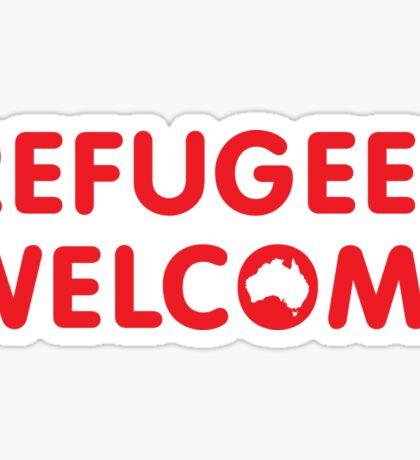 Refugees Welcome Australia (Red) Sticker