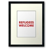 Refugees Welcome Australia (Red) Framed Print