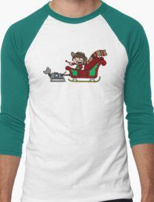 Timelord Santa! Men's Baseball ¾ T-Shirt