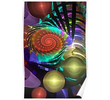 Abstract fractal spiral light show Poster