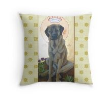Anatolian Shepherd Dog done as an icon -- Mesa Verde Throw Pillow