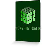 Play My Game Greeting Card