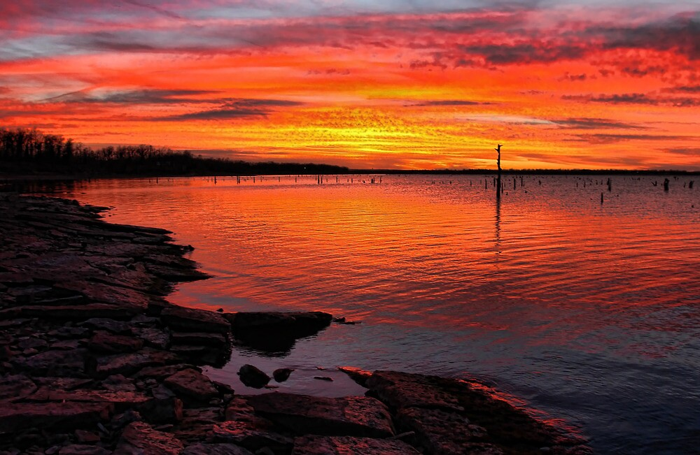 December's Red Skies by Carolyn  Fletcher