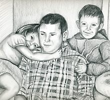 Commission portrait from old family photograph by Linda Costello Hinchey