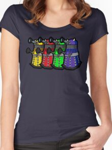 Beware the Daleks! Women's Fitted Scoop T-Shirt