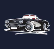 Chevrolet Corvette (58-62) Black One Piece - Short Sleeve