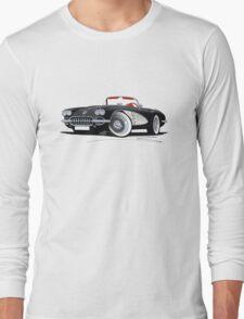 Chevrolet Corvette (58-62) Black Long Sleeve T-Shirt
