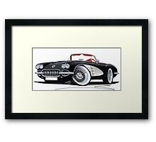 Chevrolet Corvette (58-62) Black Framed Print