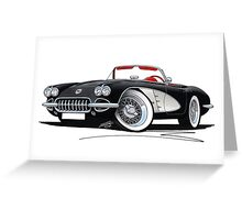 Chevrolet Corvette (58-62) Black Greeting Card