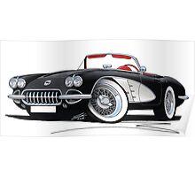 Chevrolet Corvette (58-62) Black Poster