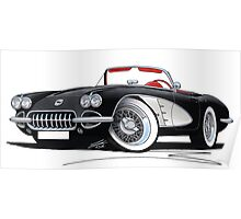 Chevrolet Corvette (58-62) Black Poster
