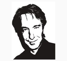 Alan Rickman Outline by JackieSnape80