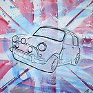 British Mini 2012 Painting by Richard Yeomans