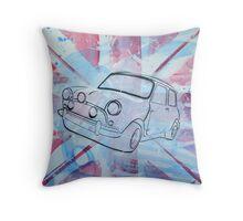British Mini 2012 Painting Throw Pillow