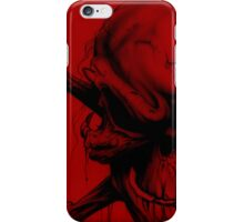 Red skull case B iPhone Case/Skin