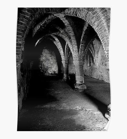 Gothic arches Blakeney Norfolk. Poster
