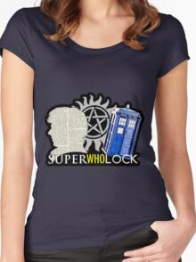 SuperWhoLock - Crossover MegaVerse Women's Fitted Scoop T-Shirt