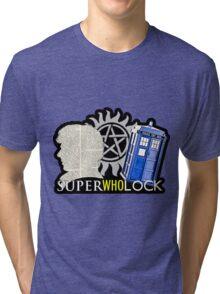 SuperWhoLock - Crossover MegaVerse Tri-blend T-Shirt