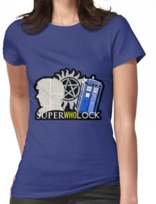 SuperWhoLock - Crossover MegaVerse Womens Fitted T-Shirt