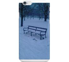 Bench in snow iPhone Case/Skin