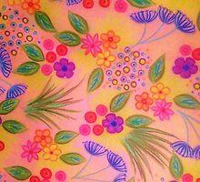 WILDFLOWER FANCY 2 - Cheerful Pink Lovely Floral Garden Pattern Girly Feminine Trendy Flowers by EbiEmporium