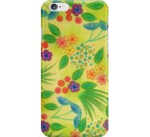 WILDFLOWER FANCY 3 - Cheerful Fresh Green Lovely Floral Garden Pattern Girly Feminine Trendy Flowers iPhone Case/Skin