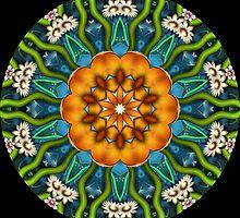 Flower design kaleidoscope 08 by fantasytripp