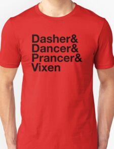 Dasher&Dancer&Prancer&Vixen (Light) T-Shirt