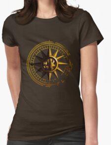 Golden Sun B Womens Fitted T-Shirt