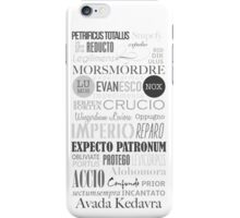 Harry Potter Spells iPhone Case/Skin