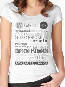 Harry Potter Spells Women's Fitted Scoop T-Shirt