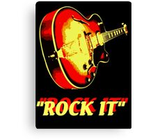rock t-shirt Canvas Print