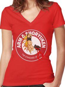 Arm & Shoryuken. The Standard of K.O. - Ryu Women's Fitted V-Neck T-Shirt