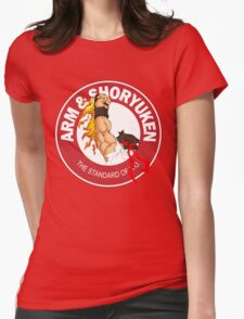 Arm & Shoryuken. The Standard of K.O. - Ryu Womens Fitted T-Shirt