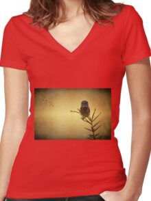As the sun goes down Women's Fitted V-Neck T-Shirt