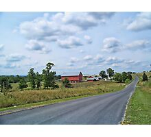 Farm On A Country Road Photographic Print